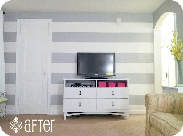 Feature sneak peek at this week 39 s showcase party for Accent stripe wall