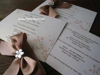 Nature coloured themed wedding invitation