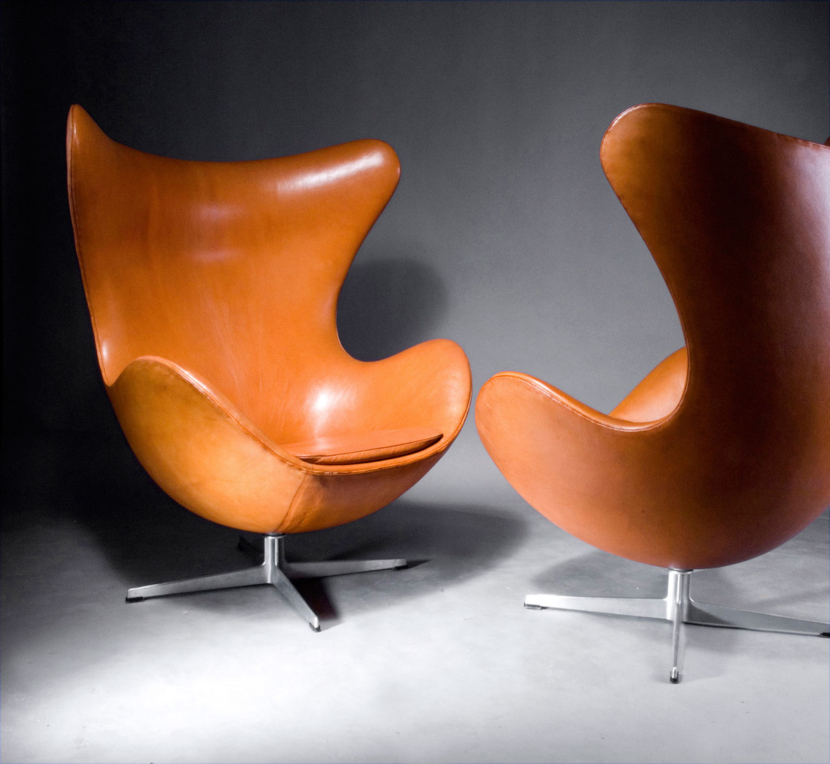 Arne jacobsen egg chair leather - Egg Chair Walnut Leater Fritz Hansen Arne Jacobsen Design