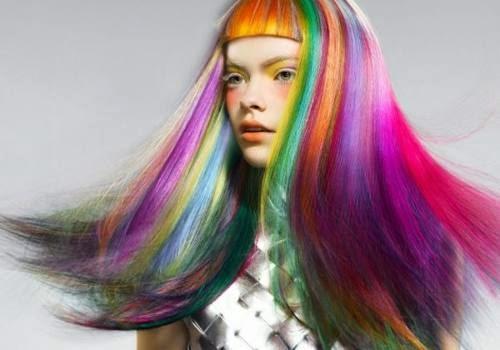 Tinte Color Multicolor Fantasía