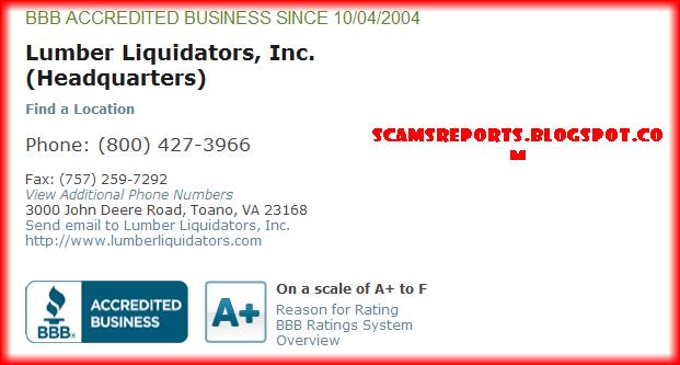 lumber liquidators review bbb