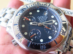 OMEGA SEAMASTER PROFESSIONAL CHRONOMETER 300m - CHRONOGRAPH - BLUE WAVE DIAL-STAINLESS STEEL BEZEL