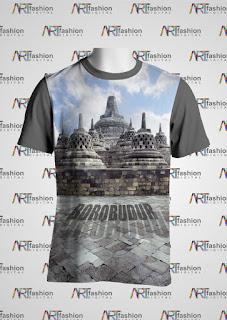 Kaos Edisi Pariwisata JOGJA Borobudur Serie Siluet 1