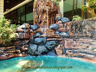spd dekorasi air terjun, mengenal bahan dasar dekorasi air terjun