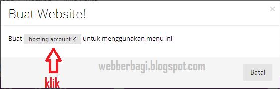 Kotak dialog buat website gratis idhostinger