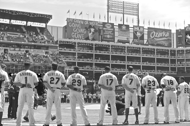 texas rangers opening day 2013