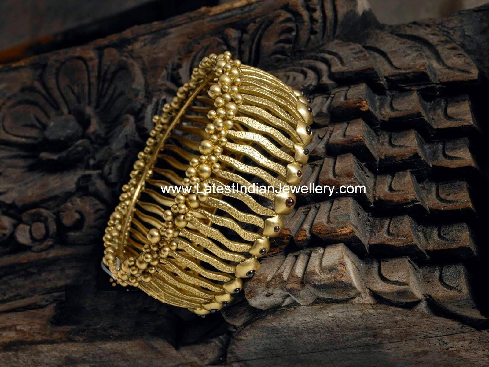 Contemporary Gold Designer Bangle