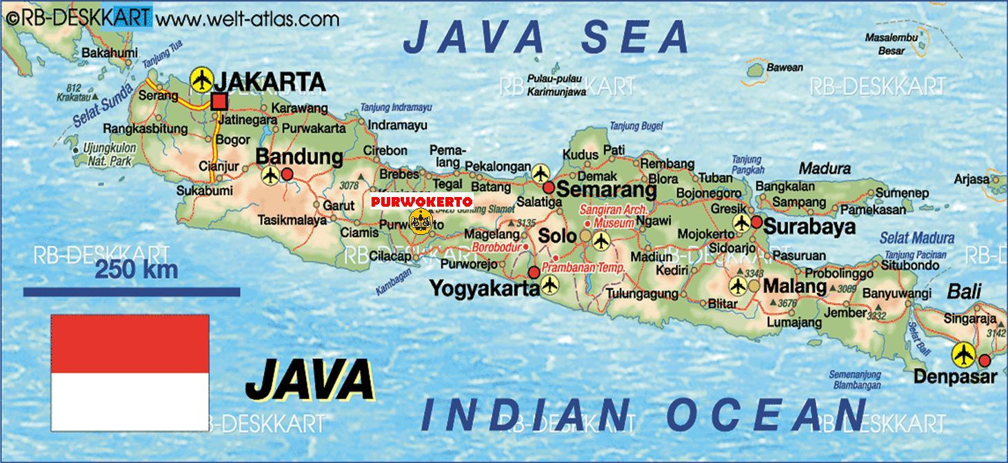 Harun Ar Mg Sakti Palembang Peta Pulau Jawa Gambar Bali
