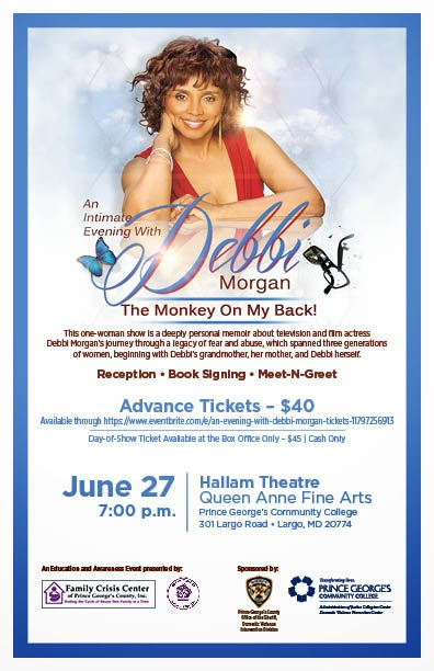"Don't Miss ""The Monkey on my Back"", a story of Domestic Violence with Actress Debbi Morgan"