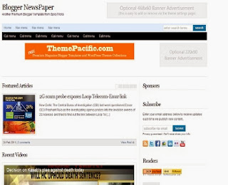Blogger Newspaper - Free News Blogger Template