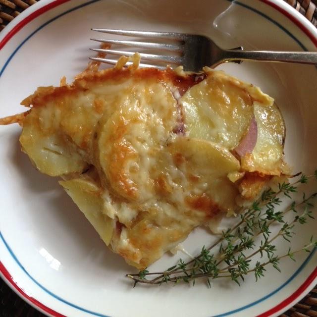 sauerkraut adn thyme potato gratin