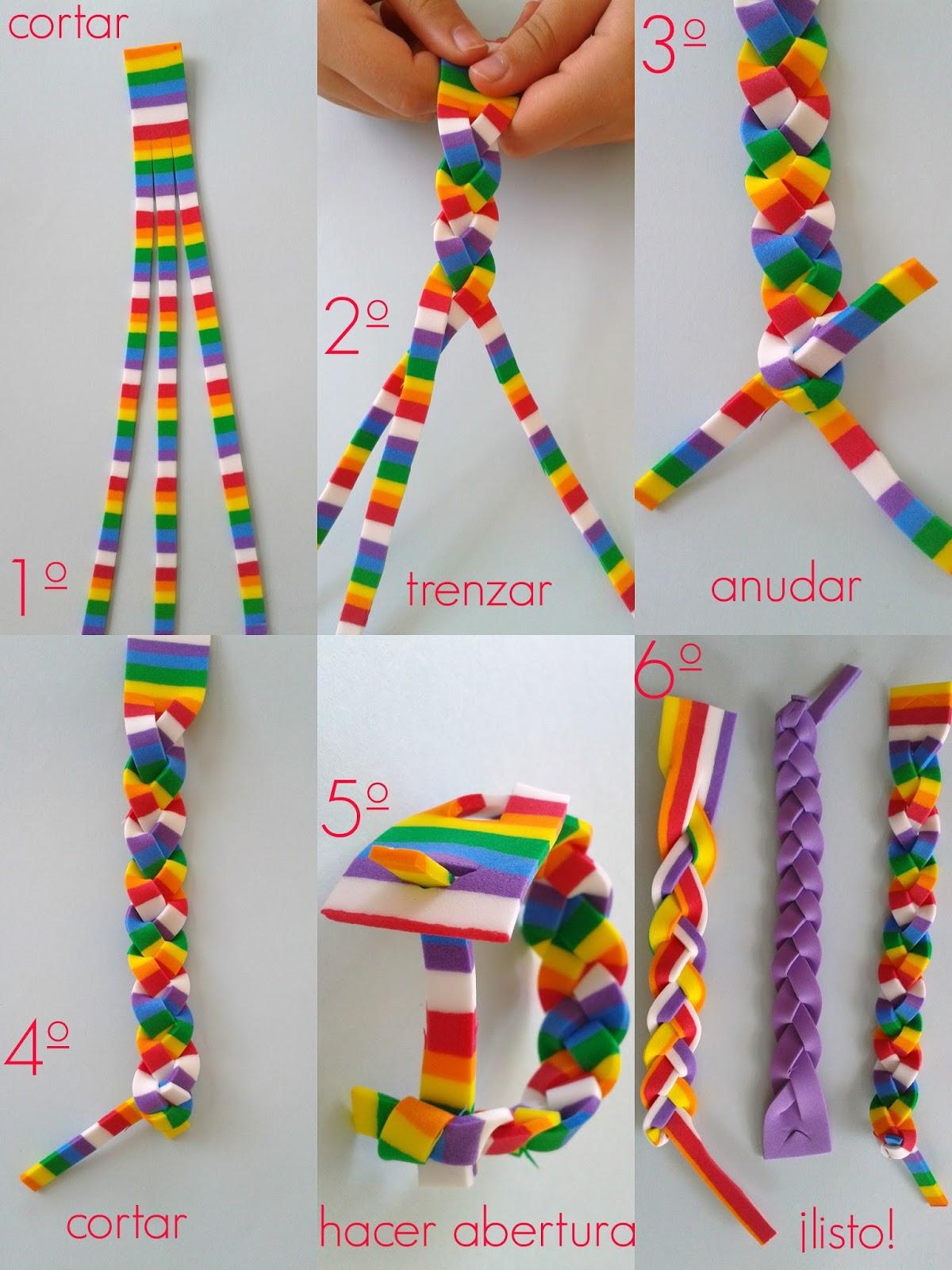 Mimosorum 7 diy para ni os en verano 7 summer crafts for Como hacer pulseras de goma eva