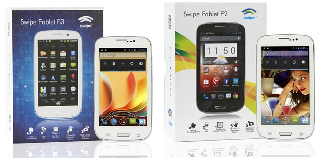 Swipe Fablet F3 and Fablet F2 - Specification and Price