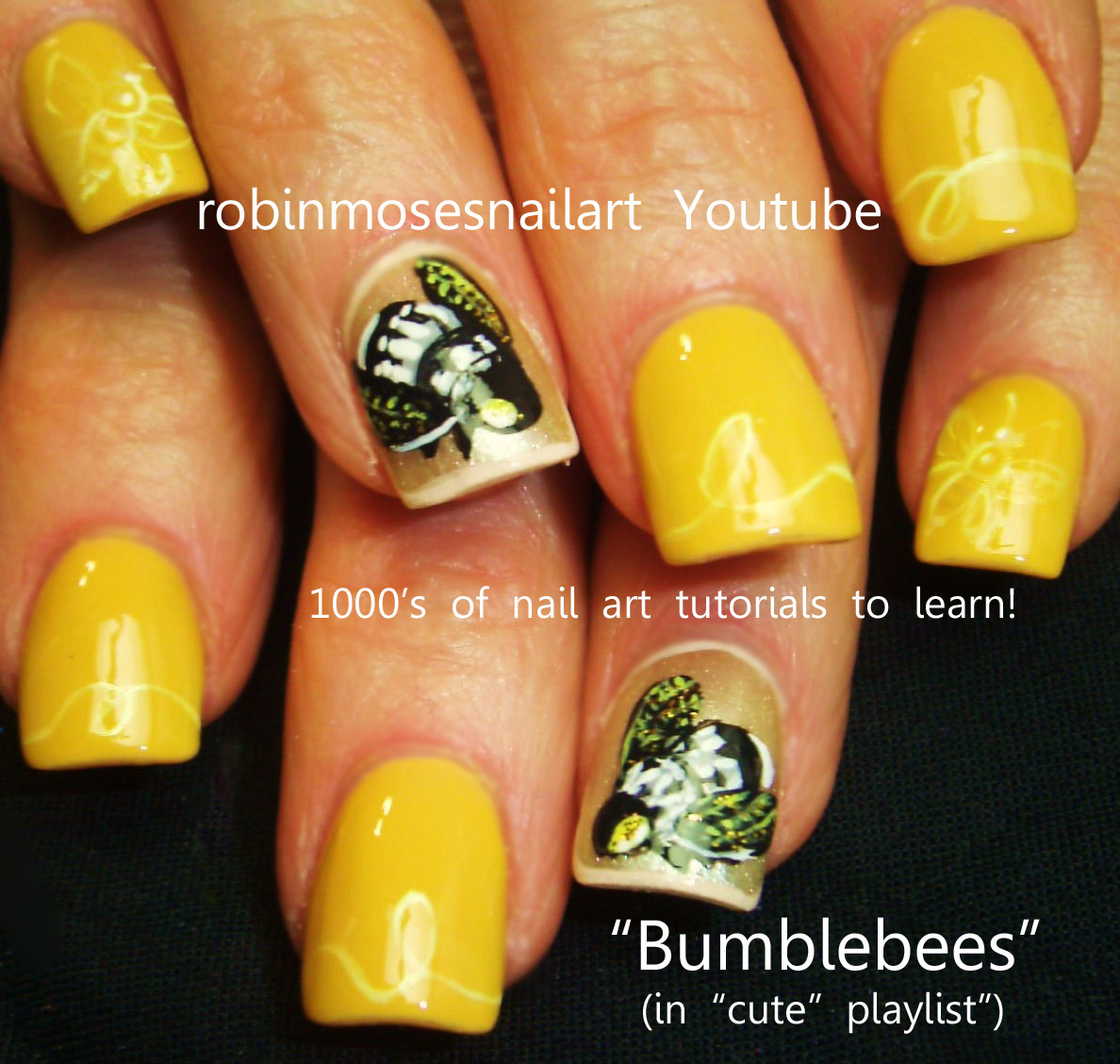 Nail Art Design Bumblebee Nail Opi Yellow Indie Nails Portlandia