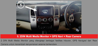 2 DIN Multimedia + GPS Navi + Rear Camera Pajero Sport Limited