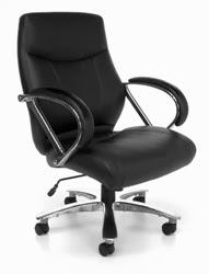 OFM Avenger Series Black Leather Executive Chair