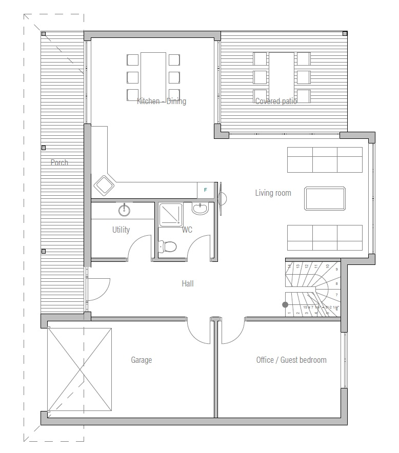 Affordable home plans economical house plan ch180 for Economical house plans