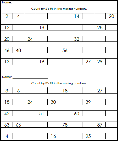 Printables Free Skip Counting Worksheets skip counting worksheets 2nd grade free scalien scalien