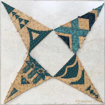 Dear Jane Quilt - Draw 16, RR4, LR4, LR10, RR10 Triangles