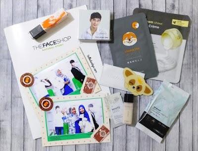 setiap undangan mendapatkan goodie bag yang berisi produk The Face Shop