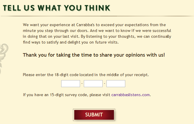 Carrabba's coupon code