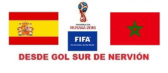 Próximo Partido de Selección Española.- Lunes 25/06/2018 a las 20:00 h.