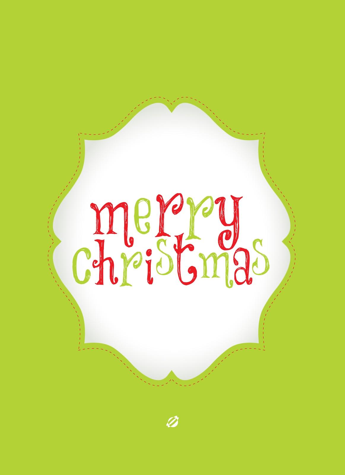 LostBumblebee©2013 Merry Christmas FREE PRINTABLE