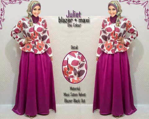 Material wide satin velvet + blazer tebal halus.  Fit to XL (Best Seller)