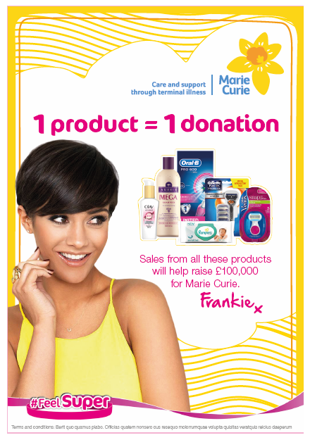 Superdrug and P&G FeelSuper Campaign for Marie Curie