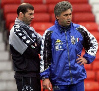 Zinedine Zidane and Carlo Ancelotti (Juventus)