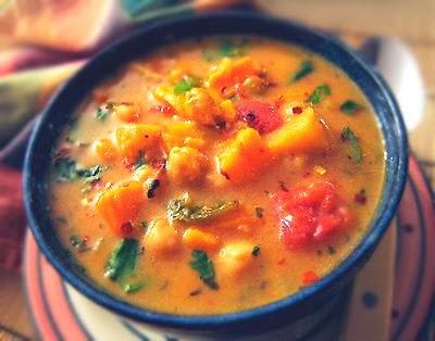 Moroccan Coconut & Chick Pea Soup
