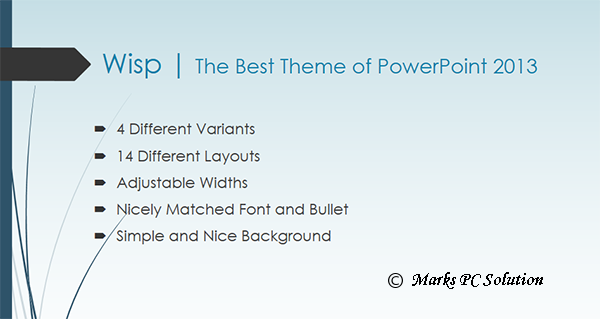 Wisp Theme for PowerPoint