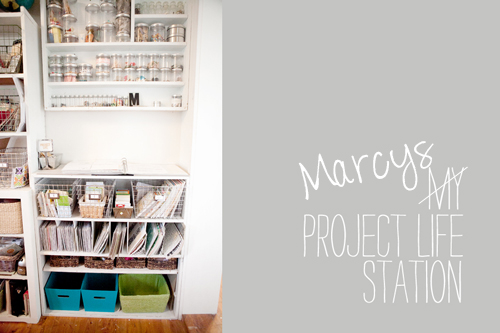 project life station Marcy Penners Organised Craft Room