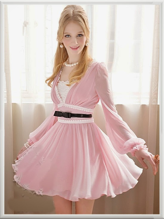 http://www.koees.com/koees-3819-Temperament-ladies-pink-dress.html