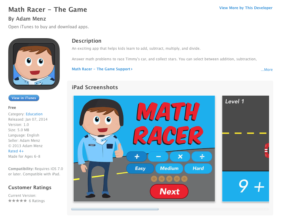 UCET » Free iOS App Today: Math Racer – The Game