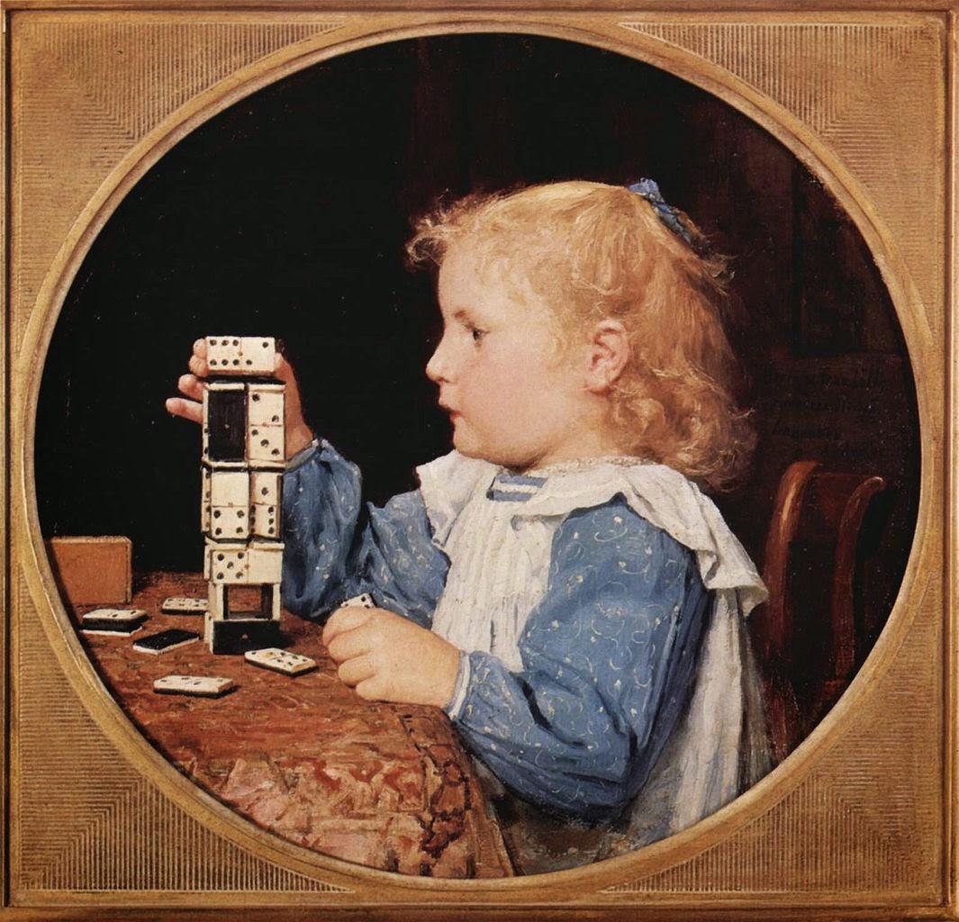albert anker, painting reviews, children genre