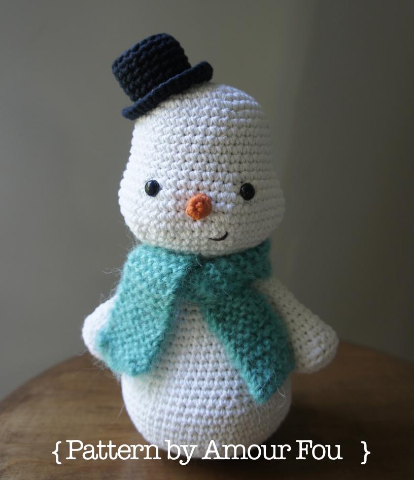 Amour Fou | Crochet }: { Toto, el muñeco de nieve... }