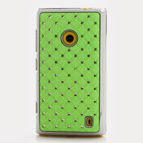 Bling Diamond Starry Sky Plated Hard Case for Nokia Lumia 520 525 - Green