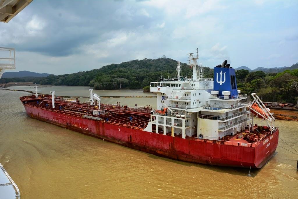 Gatun Lake Panama tanker