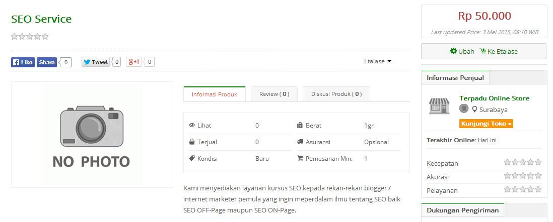 Menambahkan Produk Jualan di Tokopedia 3