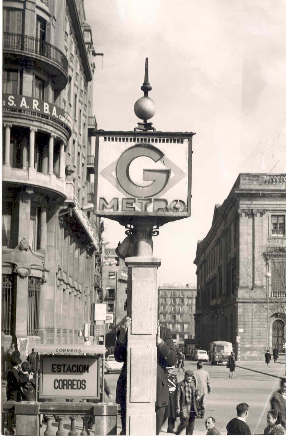 El tranv a 48 la estaci n de metro correos 1934 1972 for Oficina de correos barcelona