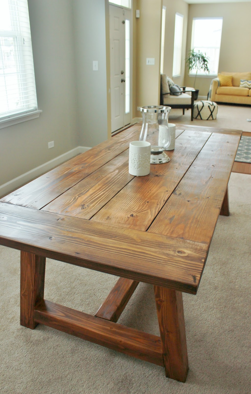Holy cannoli we built a farmhouse dining room table for Rustic dining room table plans