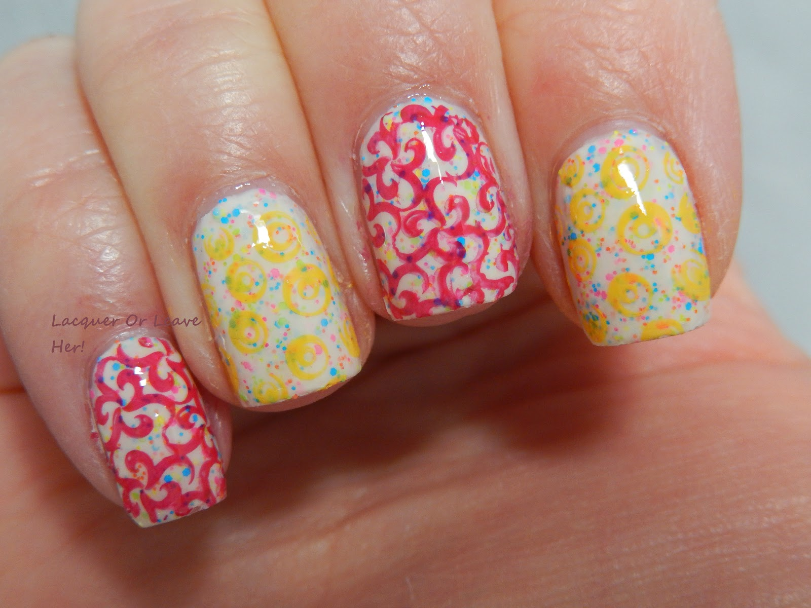 InDecisive-Nail Lacquer Jawbreaker stamped
