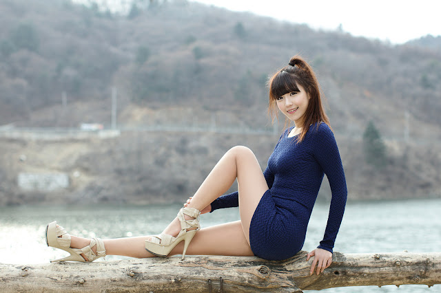 4 Lee Eun Hye in Blue-very cute asian girl-girlcute4u.blogspot.com