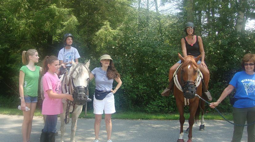 as an avid horseback rider