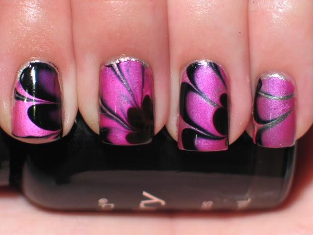 lacquerish nail art water marble