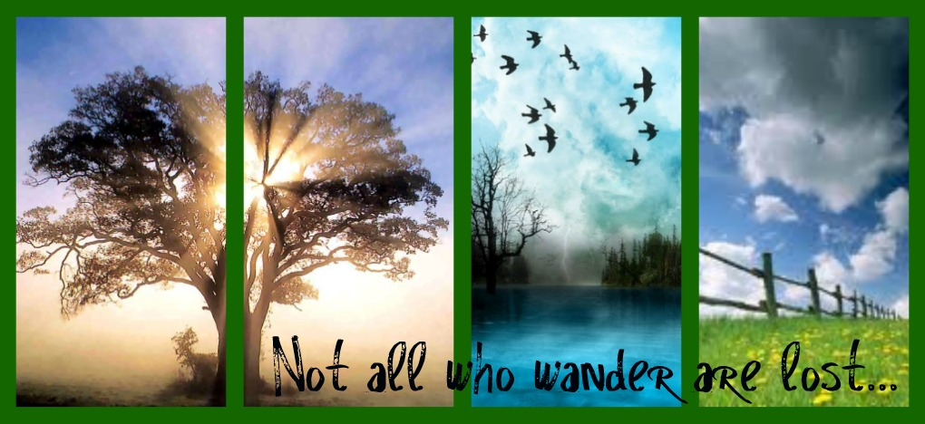 Not all who wander are lost...
