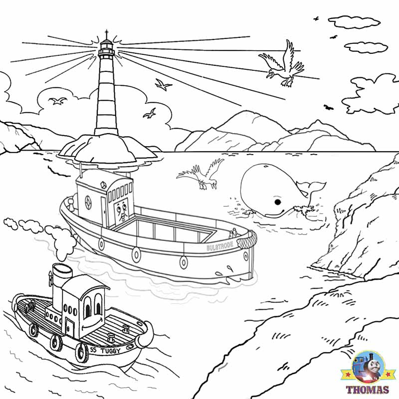 Thomas And Friends Misty Island Rescue Coloring Pages For