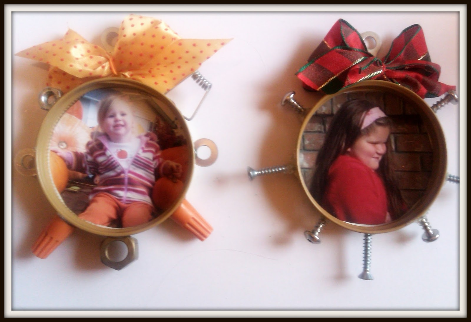 Double Treble Craft Adventures: Mason Jar Lid Frame Craft