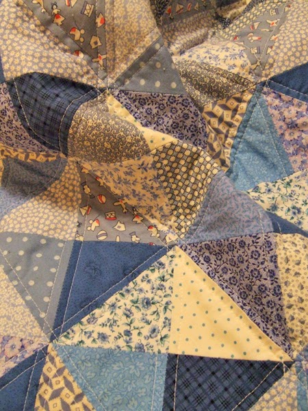 Blue Broken Dishes baby quilt